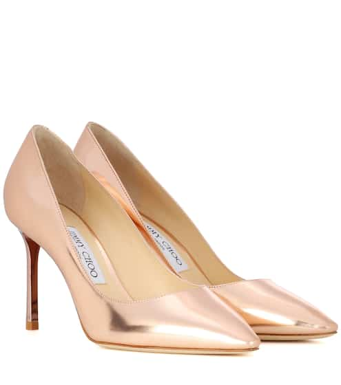 Jimmy Choo Pumps Romy 85 aus Metallic-Leder