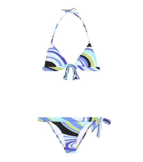Emilio Pucci Beach Triangel-Bikini mit Print
