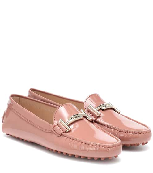 토즈 Tods Gommino patent leather loafers