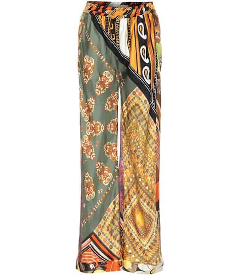 Printed silk wide-leg pants by Chloé, available on mytheresa.com for EUR603 Bella Hadid Pants SIMILAR PRODUCT