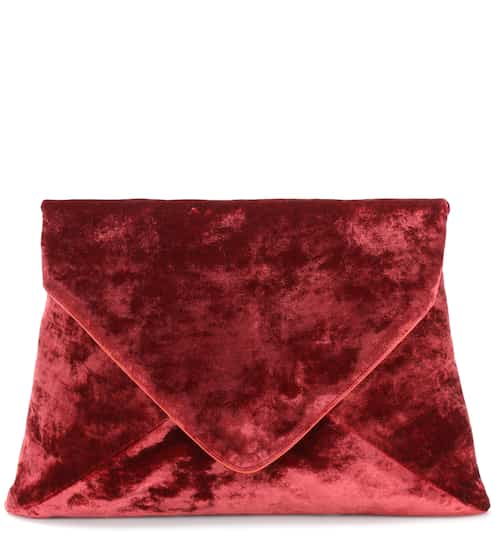 Dries Van Noten Clutch aus Samt