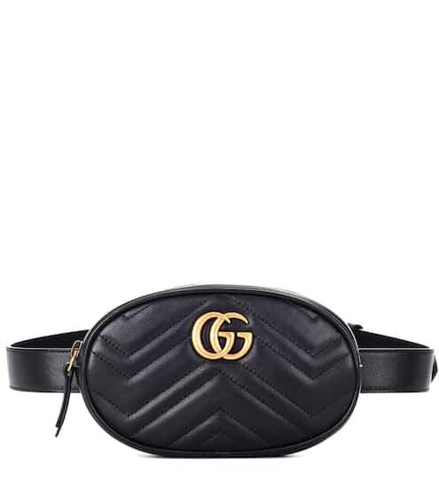 구찌 GG 마몬트 퀼팅 벨트백 - 블랙 (제니, 최화정, 수영 착용) Gucci GG Marmont leather belt bag