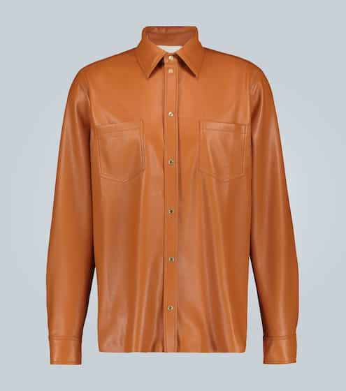나누슈카 셔츠 Nanushka Faux-leather shirt