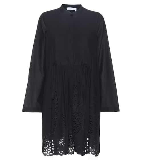Chloé Kleid aus Baumwolle mit Lochstickerei