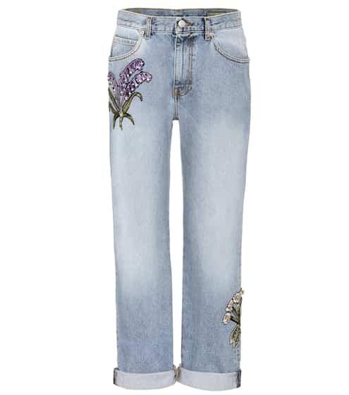 Alexander McQueen Jeans mit Kristallverzierung