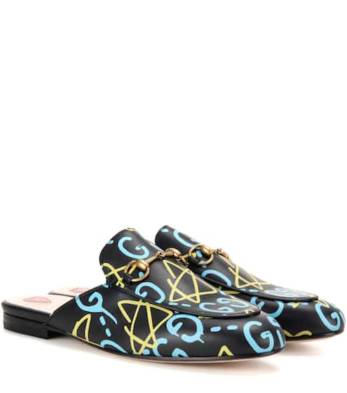 Gucci Lederslippers Princetown GucciGhost