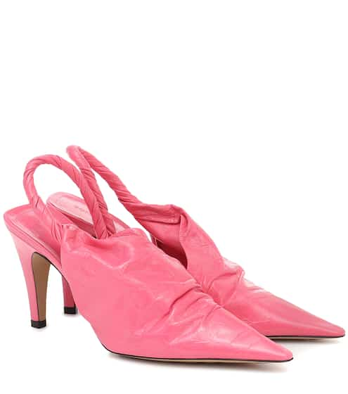 BV Point 90 leather slingback pumps by Bottega Veneta, available on mytheresa.com for $930 Kylie Jenner Shoes SIMILAR PRODUCT