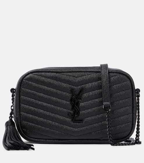 생 로랑 루 카메라백 미니 - 블랙 Saint Laurent Lou Camera leather crossbody bag