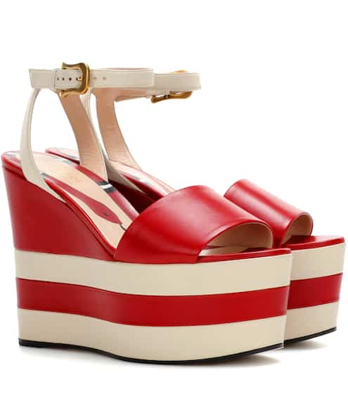 7a757cbfcfa Gucci Leather Platform Sandals from mytheresa - Styhunt