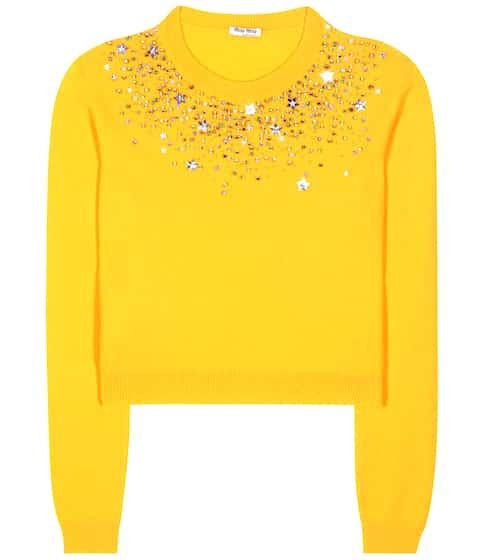 Miu Miu Verzierter Pullover aus Cashmere