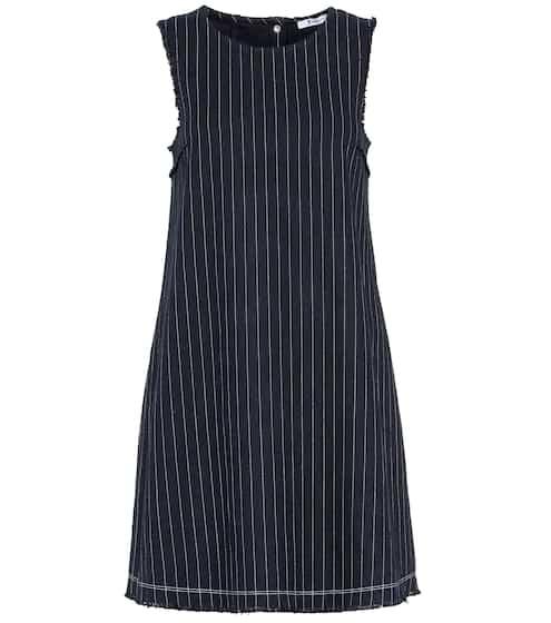 T by Alexander Wang Striped sleeveless cotton dress