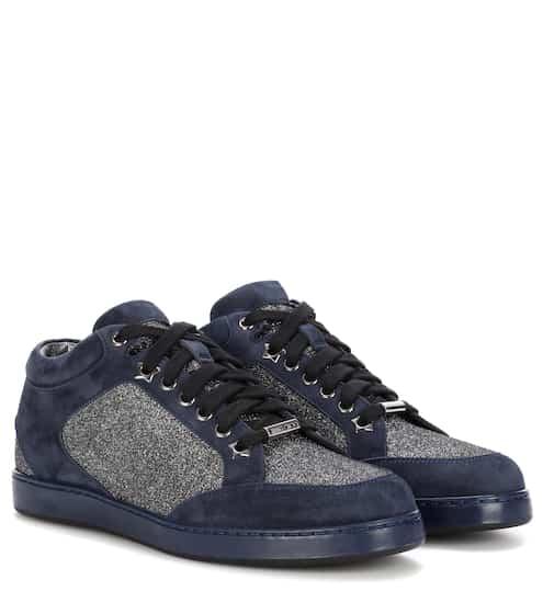 Jimmy Choo Sneakers Miami aus Veloursleder mit Glitter