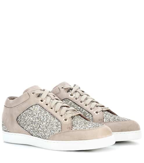 Jimmy Choo Sneakers Miami aus Veloursleder