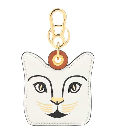 cat leather bag charm loewe