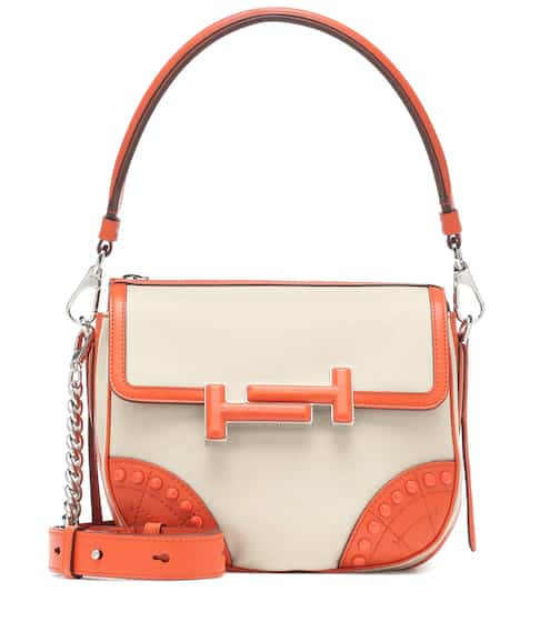 0821fe164eb Double T leather-trimmed shoulder bag