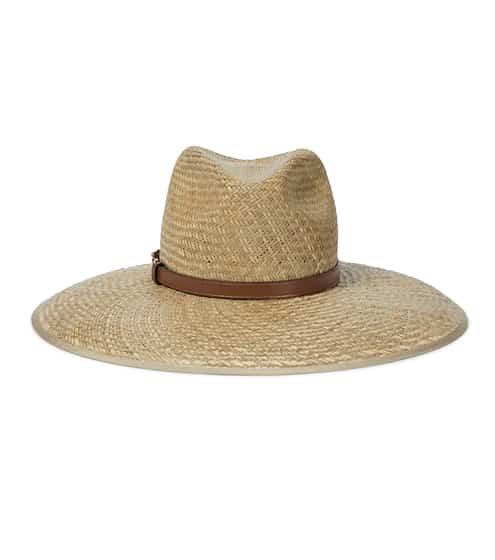 구찌 홀스빗 스트로우햇 Gucci Horsebit leather-trimmed straw hat