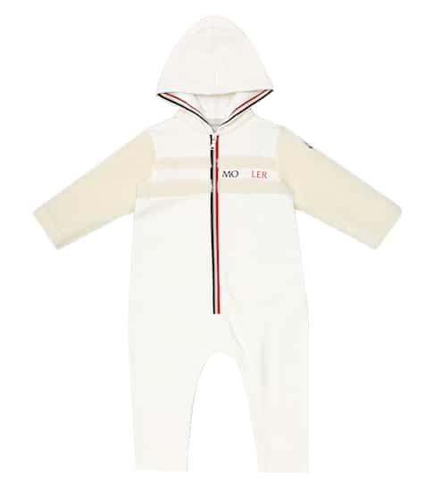 몽클레어 베이비 아기옷 우주복 Moncler Enfant Baby stretch-cotton onesie