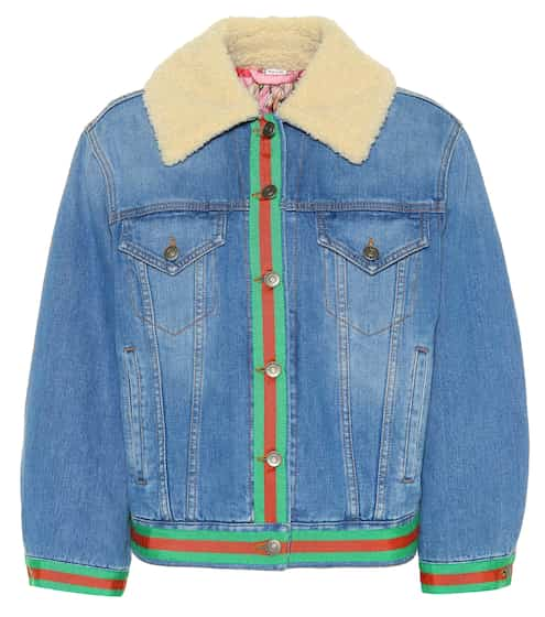 Denim jacket with faux shearling  fd5f5197e3a