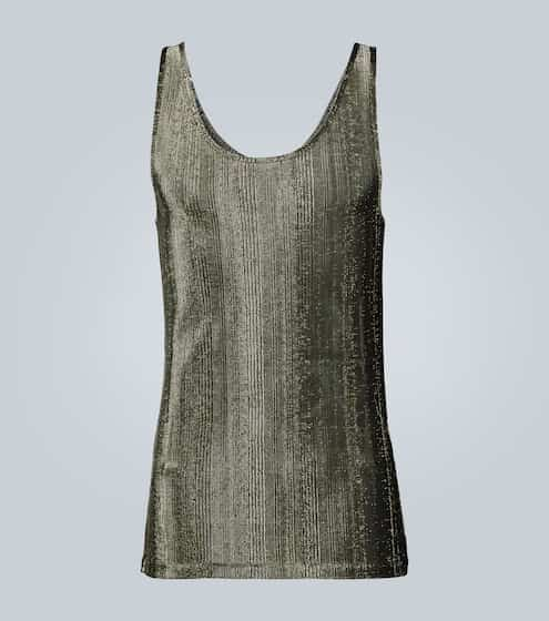 생 로랑 Saint Laurent Ribbed lame tank top
