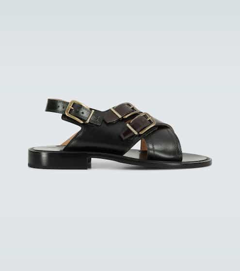 드리스 반 노튼 샌들 Dries Van Noten Leather buckled sandals
