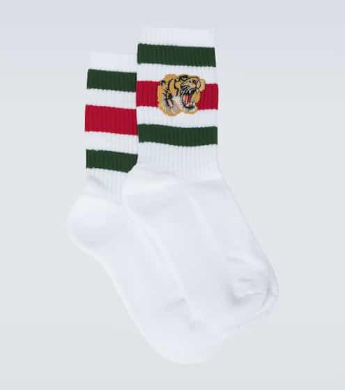 구찌 타이커 스트레치 양말 Gucci Stretch cotton socks with tiger