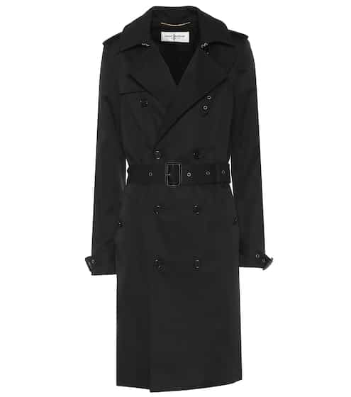 생 로랑 트렌치 코트 Saint Laurent Cotton-blend trench coat