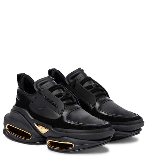발망 비볼드 스니커즈 - 블랙 Balmain BBold leather sneakers