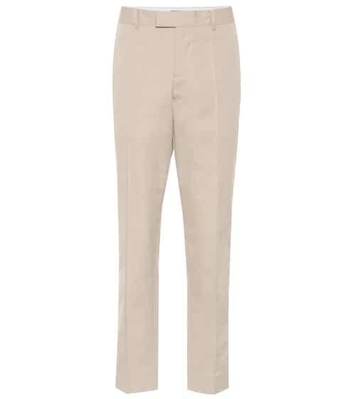7134baa4ecf7a High-rise straight cotton pants