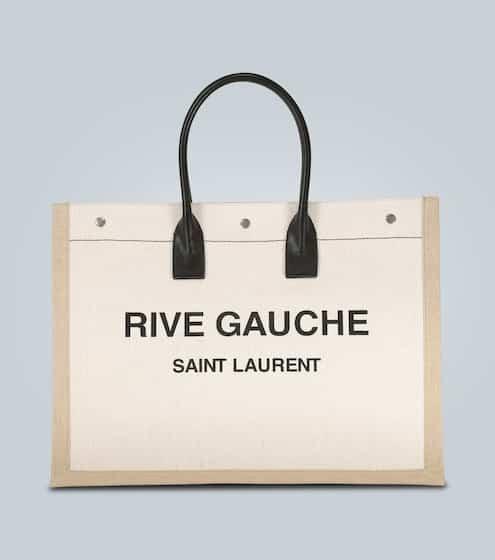 생 로랑 Saint Laurent Rive Gauche canvas tote bag