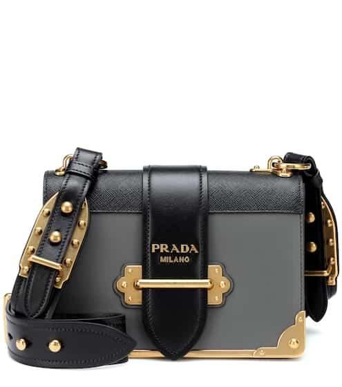 Cahier Leather Shoulder Bag Prada