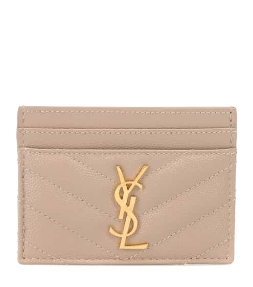 967ee66bb6df Monogram leather card holder | Saint Laurent
