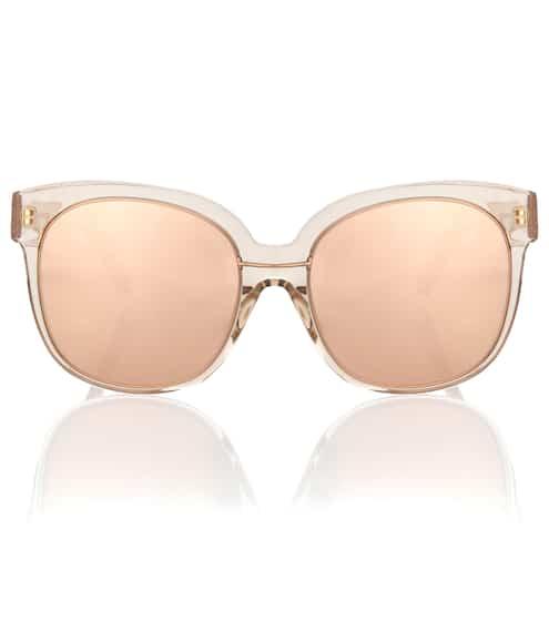 Linda Farrow Oversize-Sonnenbrille mit rosévergoldeten Gläsern