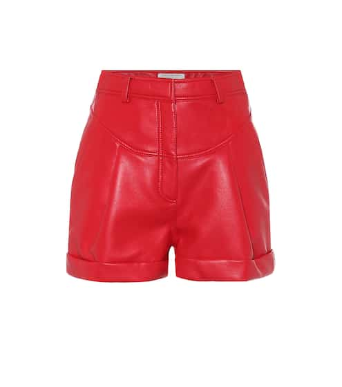 High-rise faux-leather shorts by Philosophy Di Lorenzo Serafini, available on mytheresa.com for EUR150 Bella Hadid Shorts SIMILAR PRODUCT