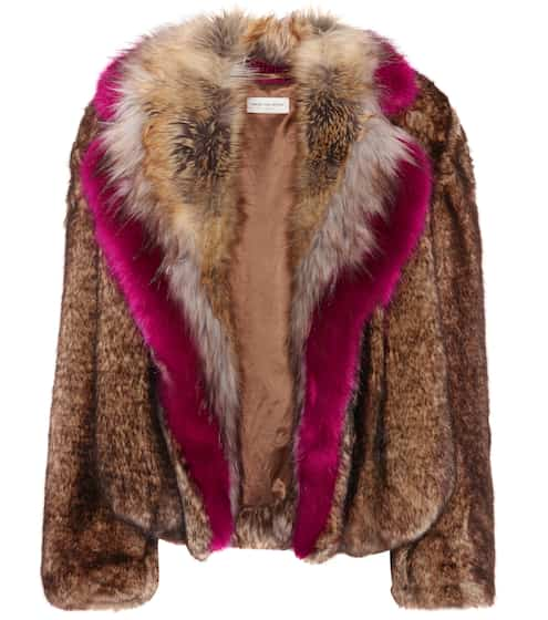 Dries Van Noten Jacke aus Faux Fur