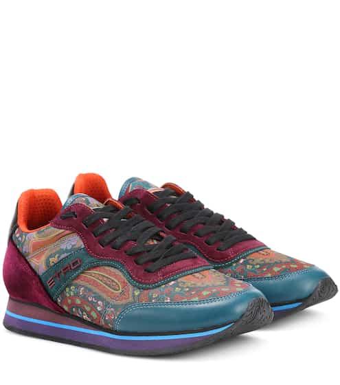Etro Sneakers mit Veloursleder