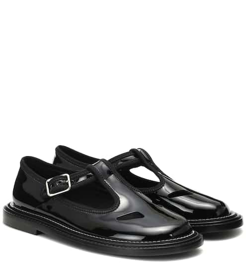 b016f5011af06 Alannis patent leather Mary Jane flats | Burberry