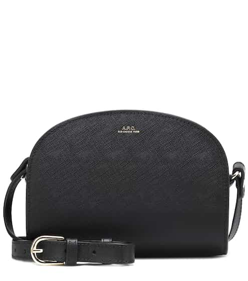 아페쎄 하프문백 미니 - 블랙 APC Demi-Lune leather mini shoulder bag