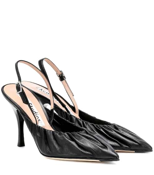 아크네 스튜디오 Acne Studios Leather slingback pumps