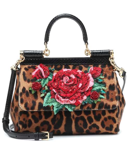 86e4f9b484d0 Sicily Small calf hair shoulder bag | Dolce & Gabbana