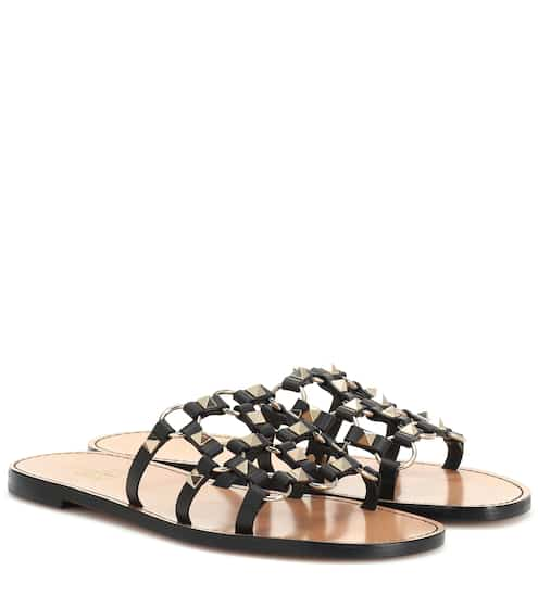 03514594ff3a Valentino Garavani Cagestuds leather sandals
