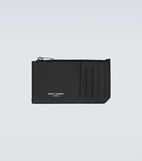 생 로랑 지퍼 파우치 Saint Laurent Leather ID card case