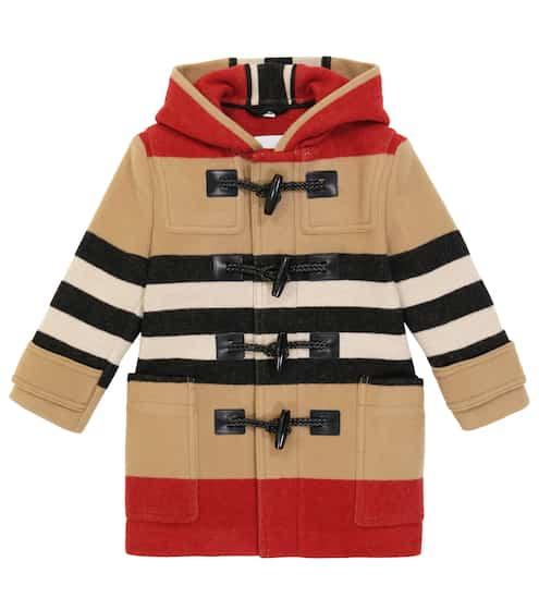 버버리 키즈 더플 코트 Burberry Channing striped coat