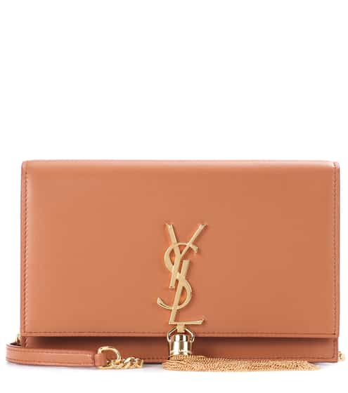 Saint Laurent Schultertasche Kate Wallet On Chain aus Leder