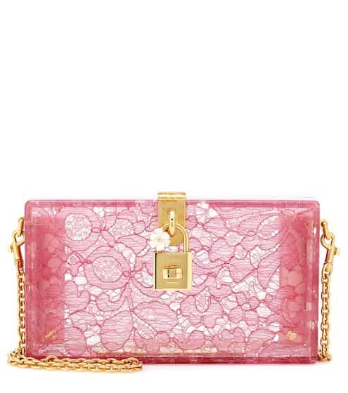 50337a0d4f Clutch a tracolla Dolce Box con pizzo | Dolce & Gabbana