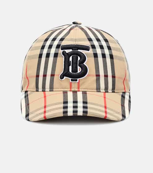 버버리 TB 빈티지 체크 볼캡 모자 Burberry TB Vintage Check cotton baseball cap