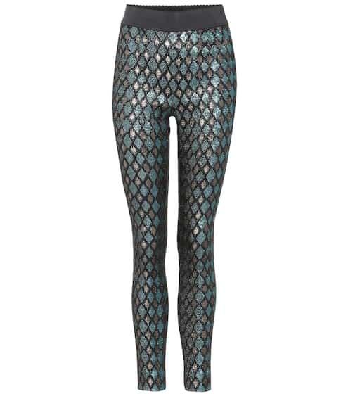 Dolce & Gabbana Leggings aus Lamé
