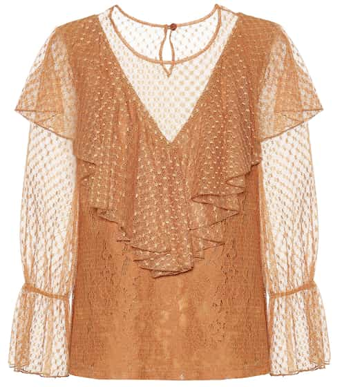 ef8a643b49d Layered lace and cotton top