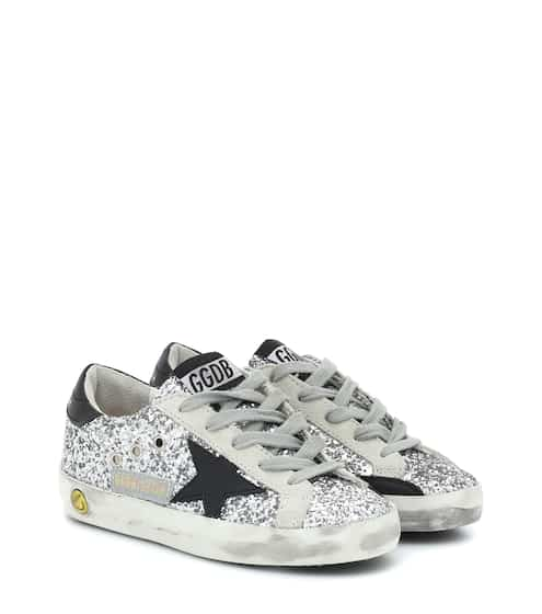 골든구스 Golden Goose Kids Superstar glitter sneakers
