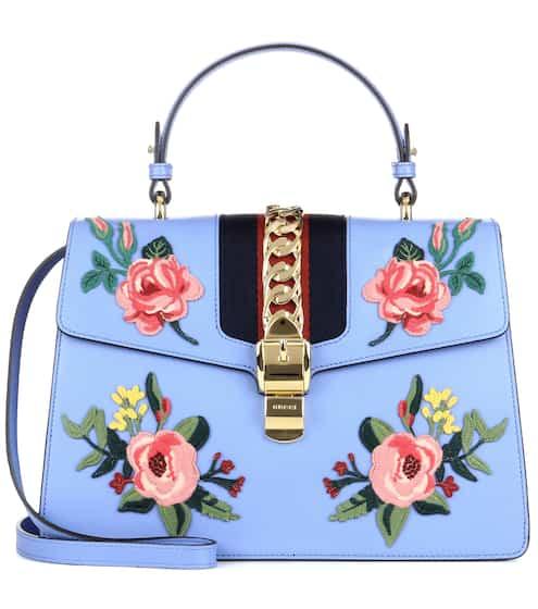 Gucci Verzierte Tasche Sylvie aus Leder
