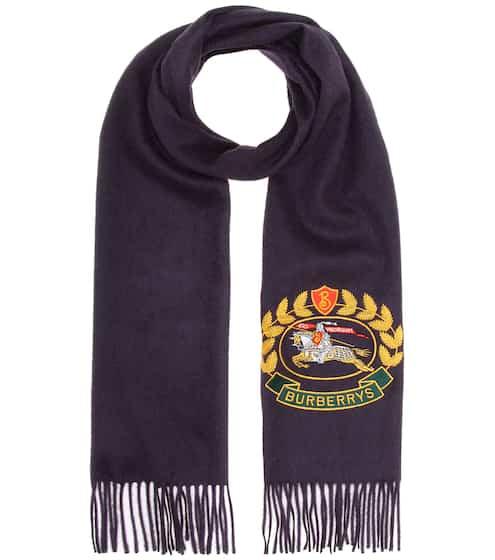 버버리 Burberry Embroidered cashmere scarf